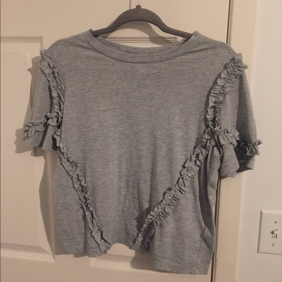 T-shirt with ruffle pattern